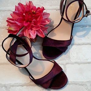 Plum Velvet Sandals sz 7.5